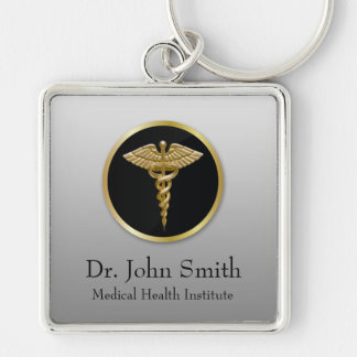 Gold Professional Medical Caduceus - Keychain