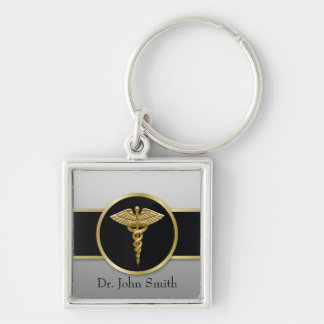 Gold Professional Medical Caduceus - Keychain