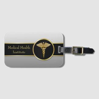 Gold Professional Medical Caduceus - Luggage Tag