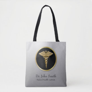 Gold Professional Medical Caduceus - Tote Bag