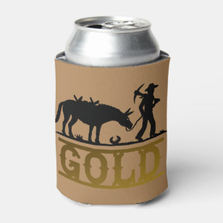 Gold Prospector Can Cooler