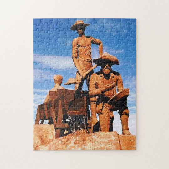Gold Prospector Photo Designed Colour Jigsaw Puzzle
