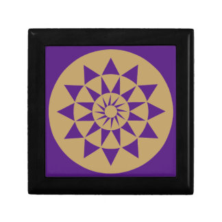 Gold & Purple Geometric Pattern small gift Box