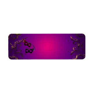 Gold Purple Masquerade Party Address Labels