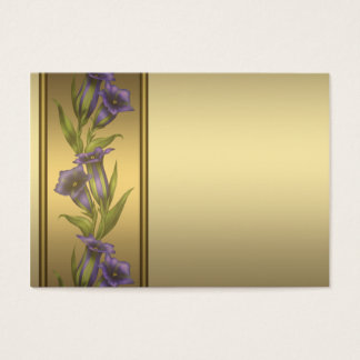 Gold Purple Violet Business Cards