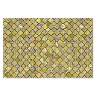 Gold Quatrefoil Foil Glitter Tissue Paper