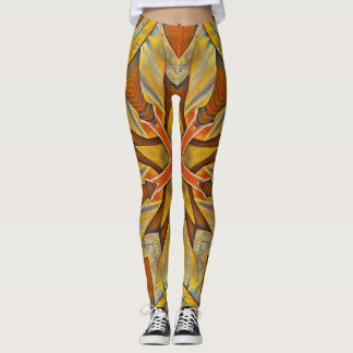 Gold Queen Steampunk Fantasy Leggings