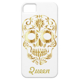 Gold Queen Sugar Skull Case For The iPhone 5