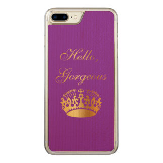 Gold quote chic luxury girly design carved iPhone 8 plus/7 plus case