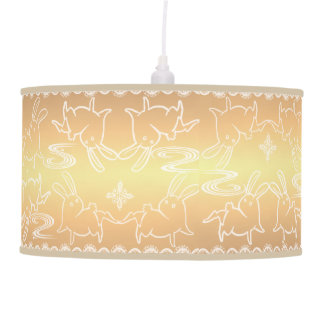Gold Rabbit Pendant Lamp