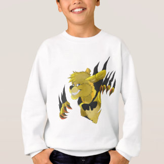 Gold Rabbit with Claws Sweatshirt
