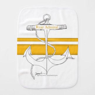 gold rear admiral, tony fernandes burp cloth