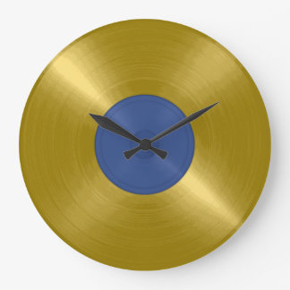 Gold Record Album Large Clock