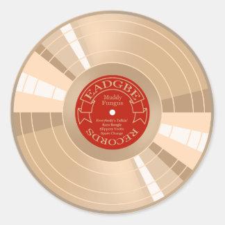 Gold Record Classic Round Sticker