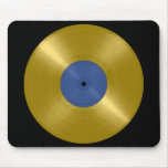 Gold Record with Blue Label Mouse Pad