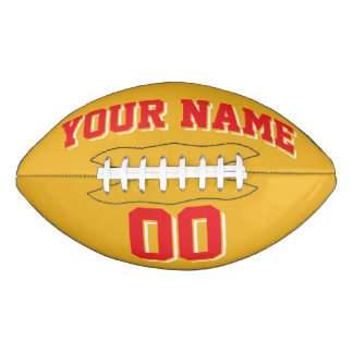 GOLD RED AND WHITE Custom Football