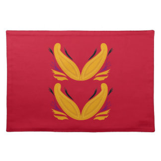 Gold  red design Ornaments Placemat