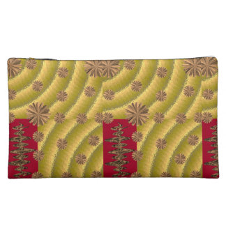 gold red girls baggette cosmetic bag