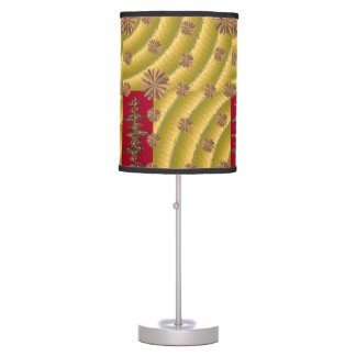 gold red lamp shade
