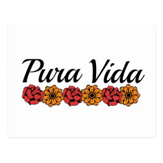 Gold & Red Marigold Pura Vida Postcard