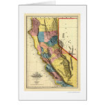 Gold Regions of California Map by Gibbes 1851 Cards