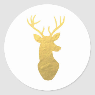Gold reindeer stickers