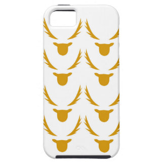 GOLD Reindeers on white Case For The iPhone 5