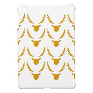GOLD Reindeers on white iPad Mini Cases