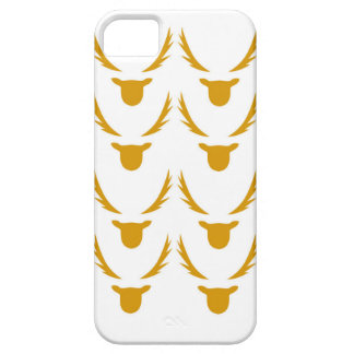 GOLD Reindeers on white iPhone 5 Covers