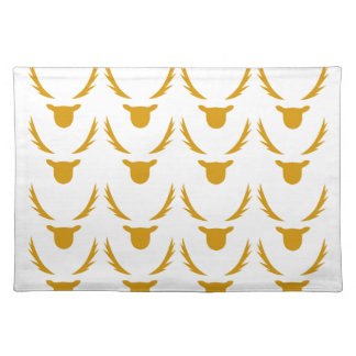 GOLD Reindeers on white Placemat