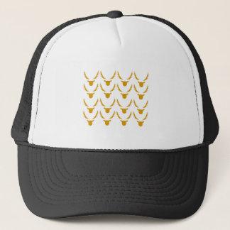 GOLD Reindeers on white Trucker Hat