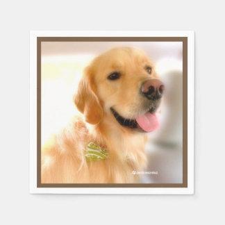 Gold Retriever Henry's_World_Today Napkin Disposable Napkin