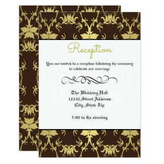 Gold Retro Formal Flourish -Reception Invitation