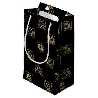 Gold Retro Theme Small Gift Bag