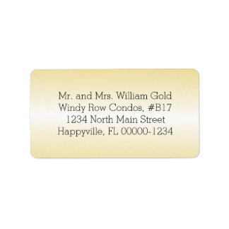 Gold Return Address Printed or Blank Labels