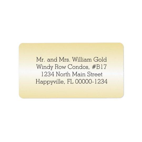 Gold Return Address Printed or Blank Labels