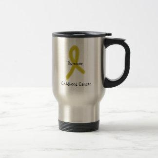 GOLD RIBBON 9-4-09, Survivor, Childhood Cancer Travel Mug