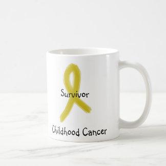 GOLD RIBBON 9-4-09, Survivor, Survivor, Childho... Coffee Mug