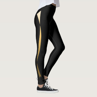 Gold Ribbon Leggings