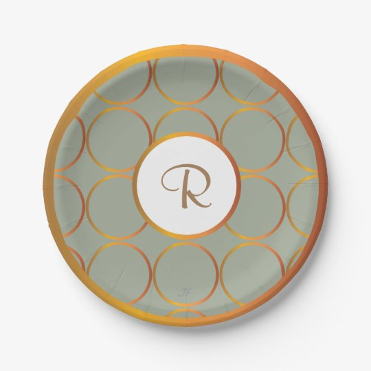 Gold rings 7 inch paper plate