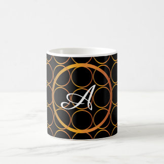 Gold rings monogram coffee mug