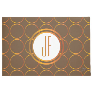 Gold rings monogram doormat