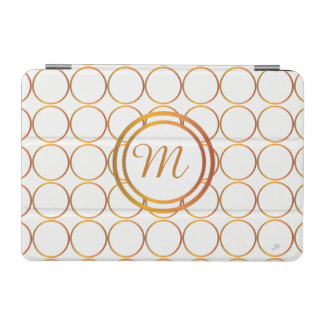 Gold rings monogram iPad mini cover