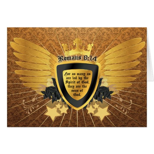 Gold Romans 8:14, Sons of God Card