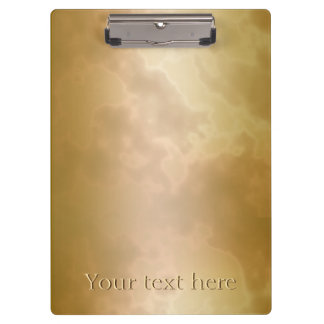 Gold Rose Marble Personalized Clip Board