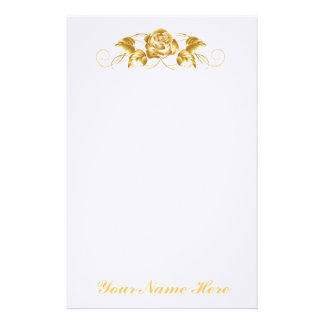Gold Rose Stationery