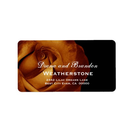 Gold Rose Wedding A002 Label