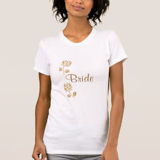 Gold roses bride t shirts