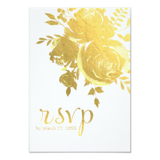 Faux rose gold foil invitations announcements zazzle for Gold foil wedding invitations canada