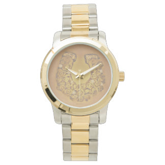Gold Roses Horseshoe Watch